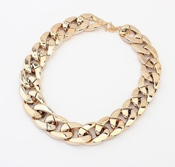 Min.order $10(mix order) Free Shipping!Europe and the United States major suit coarse chain simple all-match Necklace