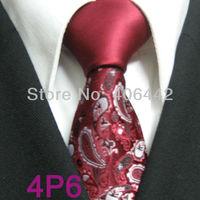 YIBEI Coachella ties SKINNY Tie New Design Dark Red Knot Contrast Dark Red With Black Silver Florals Microfiber Necktie SLIM Tie