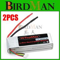2x HiTopMax 11.1V 2800mAh 3S 30C RC LiPo Battery AKKU For Trex 450 Helicpter 6CH WALKRA ESKY #500