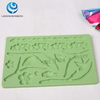 Free shipping Silicone Mold Nature Fondant and Gum Paste Mold Cake Decoration Mold #3020
