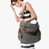 Free shipping 2013 canvas bag women's one shoulder cross-body bags dual female large capacity travel bag big vintage