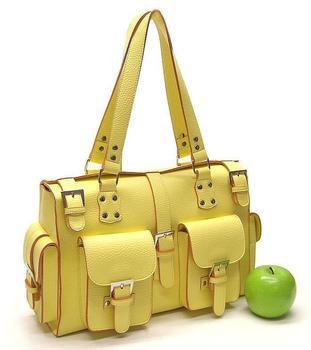 Yellow PU military vintage one shoulder fashion women's handbag 1191-d
