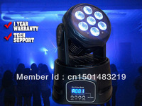 Mini Quad Moving Head wash for Club, 7*10W LED Moving Heads for wedding up lighting, Dj Lights