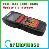Promotion price U585 code reader Super Memo Scanner for VAG AND CAN-OBD2 u 585 update online
