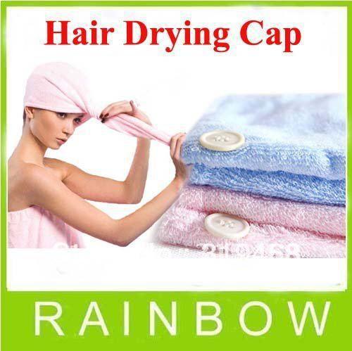 5pcs/lot RA Lady's Magic Soft Microfibre Hair Care Drying Dryer Towel Hat Cap Quick Dry Bath Tool Free Shipping(China (Mainland))
