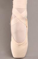 Canvas ballet toe shoes dance shoes female flat cat's claw shoes hard ballet shoes