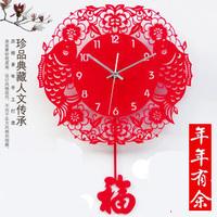Free shipping Wall clock fashion art  table creative clock quartz clock festive silent swing clock