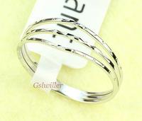Min.order 2 pcs,Free Shipping Italina Rigant Wholesale,18k White  gold plated  Crystal Rings,Fashion ring Wedding ring Gift
