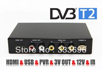 New HD Car Digital TV Tuner Receiver Box DVB DVB-T2 MPEG4 / MPEG2 / H.264 Mobile Digital TV Car DVB T2 for Europe Russia