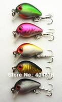 10pcs SMALL CRANKBAIT fishing lure,fishing hard bait 3CM 1.5G 10#hooks Japan lures Diving Depth:0.1-0.2M (CB023) free shipping
