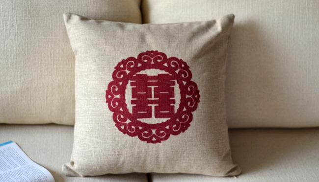 Chinese Characters National Style Printed Cushions Decor Free Shipping Wholesale(China (Mainland))