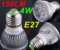 100pcs/lot,DC 12V LED Spot light 4W E27 led lamp Cold White/ Warm White bulb Lamp Spotlight Free Shipping