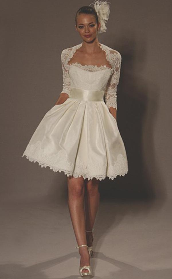 Knee Length Wedding Dresses Cheap 38 Cute