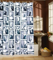 2013 New! 50pcs/lot 180x180cm Marilyn / Marylin Monroe Polyester Shower Curtain ,Fashion Star Waterproof Shower Curtain