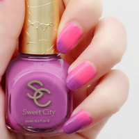 Sweet city nail polish oil 14ml temperature change nail polish free shipping