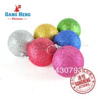 Christmas tree 5cm blended-color foam sticky powder christmas ball 6pcs/pack