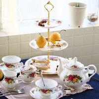 Fashion tea set bone china ceramic tea set coffee utensils cup and saucer pot gift set gift box tote