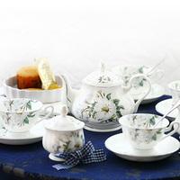 Bone china ceramic d'Angleterre tea set 15 coffee set fashion coffee pot cup and saucer gift set