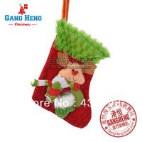 Christmas decoration christmas tree decoration 13x18cm plush elk christmas socks 10g