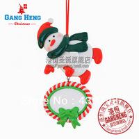 Christmas tree decoration 10*8cm enamel christmas snowman 30g