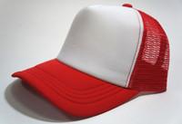 Unisex Classic Trucker Baseball Golf Mesh Cap Hat  - Red White Color