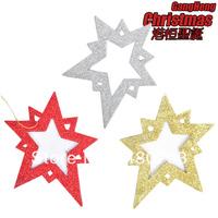 For decoration pendant 15cm scrub star sticky powder christmas tree 10g