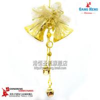 Christmas tree ornaments 30 * 16cm golden double bell bells hanging pendant 100g