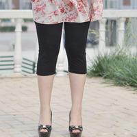 Plus size women plus size clothing plus size 2013 mm summer thin elastic legging capris