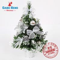 Christmas decoration 40cm silver pvc christmas decoration flower pot 250g