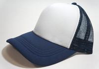 Unisex Classic Trucker Baseball Golf Mesh Cap Hat - Navy White Color