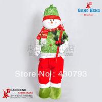 Christmas decoration supplies 76*28cm plush cloth christmas snowman 970g