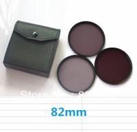 82 82mm Neutral Density Filter Lens Set Kit ND2 ND4 ND8 ND 2 4 8 + 3pockects Filter Wallet Case
