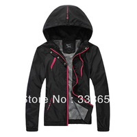 The new Women's fashion windbreaker jacket, hooded sportswear , outerwear casual jackets.     lgfhnkmf        B
