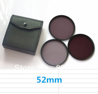 52 52mm Neutral Density Filter Lens Set Kit ND2 ND4 ND8 ND 2 4 8 + 3pockects Filter Wallet Case