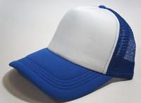 Unisex Classic Trucker Baseball Golf Mesh Cap Hat - Blue White Color