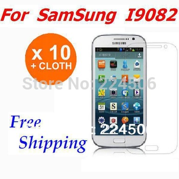 10X HD Clear LCD Screen Protector Guard For Samsung Galaxy Grand Duos i9080 i9082 i879 free shipping Without Retail Package