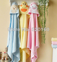 3pcs/pack Lovely Newborn child towels/baby blankets/Newborn Wrap coated Free shipping