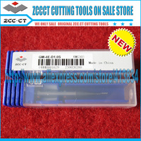Free Shipping 20pcs/lot GM-4E-D1.0s ZCCCT Cemented Carbide 4 Flute Flattened end mill with straight shank