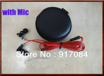 Best Noise Cancelling 3.5mm high quality headphone earphone with mic in storage 8 case for iphone 3 iphone 4 4s