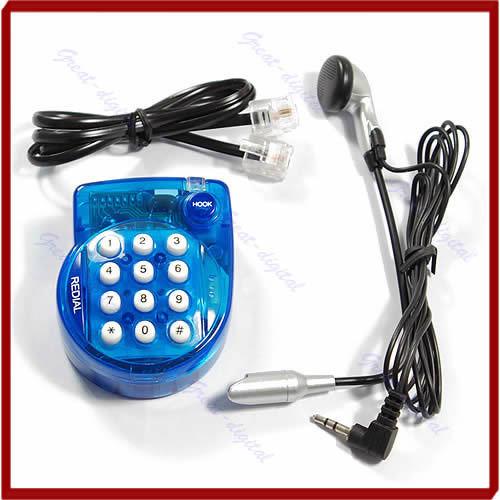 mini hands free home corded telephone phone landline with headset