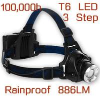 Free Shipping Camping Headlamp Cycling Bike Bicycle Riding Headlight Front Head Flash Light - 886LM 3 Flash Mode