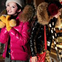 новые женщины Зимняя куртка, большой меховой воротник женщин плюс размер большой меховой воротник утолщение средне длинные пальто, s-3xl/4xl/5xl
