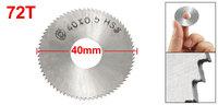40mm x 0.5mm x 13mm HSS 72T Slitting Saw Blade Cutting Tool