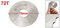 75mm x 22mm x 0.5mm 72T HSS Circular Slitting Saw Blade Cutter