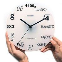 Hot sale Modern stylish Creative Design Wall Clock Home Decor room Quiz Math Equation Graph Teacher creative gift craft clock
