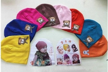 Spring Bear baby hat infant cap hat headgear Korean boys and girls spring cotton hat tide