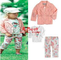Комплект одежды для девочек E-Best]Newest! 5sets/lot Girls skirt set Long Sleeves shirt+denim dress 2pcs set Kids Autumn fashion suits