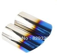 Brand New Stainless steel Plating Titanium Blue Exhaust Muffler Tip Tail Pipe For 2010-2012 Bayerische Motoren Werke X1 2pcs