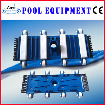 Black swimming pool flexible vacuum head