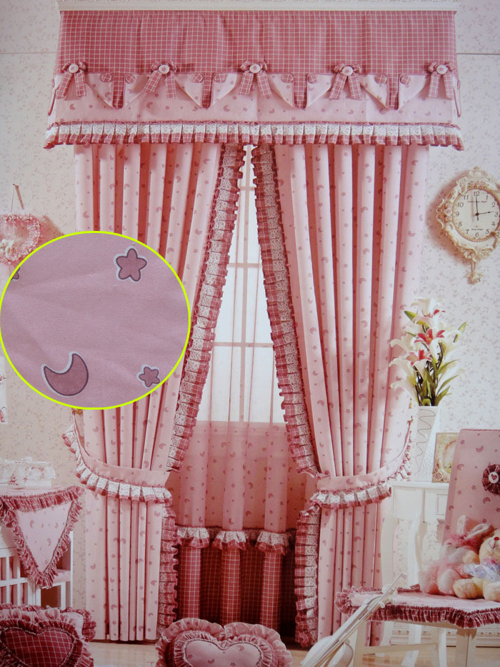 Cloth Curtain Of Boys And Girls Children Room Pink Curtain Curtain